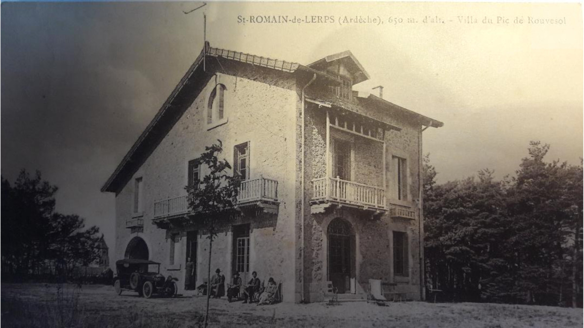Photo historique de la villa
